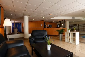 Modern apart hotel reception area in Montpellier, south of France