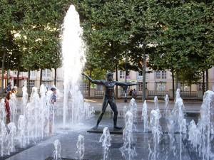Aktivitäten in Montpellier mit IEF - Wasserfontäne