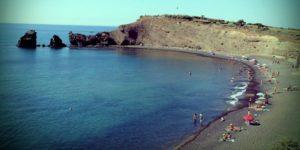 Plage de sable noir du Cap d'Agde