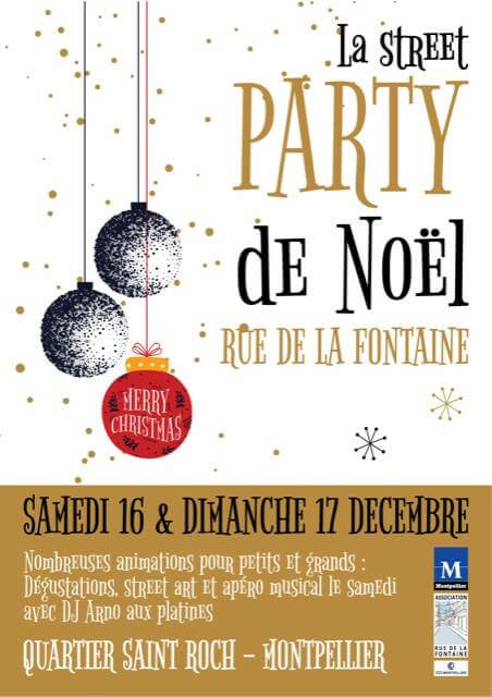 Street party de Noël