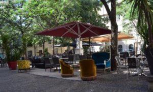 Soirée de l'IEF au Black Cat, terrace