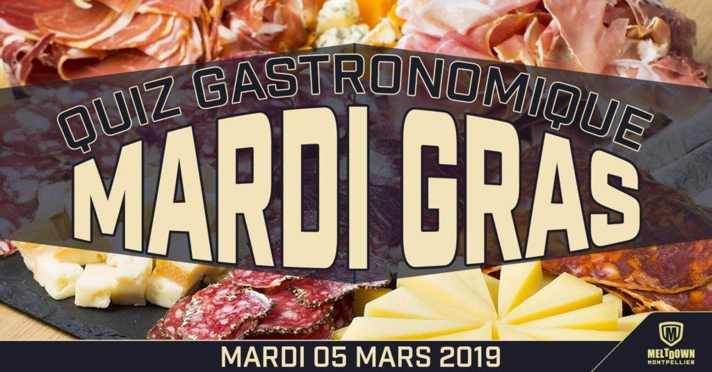 Mardi gras quiz gastronomique