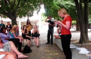 Aktivitäten in Montpellier - IEF - Poesie Lesung an der Schule