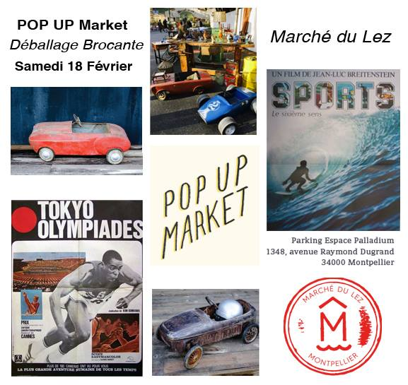 Pop up Brocante Marché du Lez