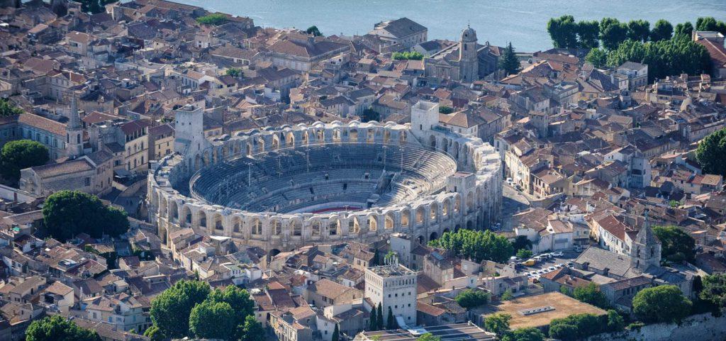 vue aerienne Arles