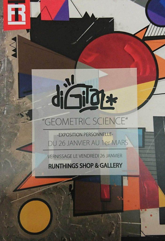 Digital « Geometric Science » Vernissage Runthings Galerie