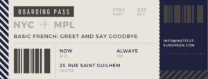 Basic French, greet and say goodbye