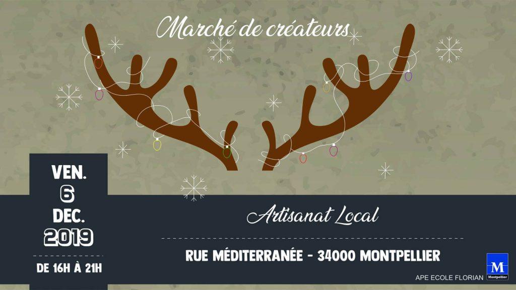 Marche de Noël, rue de la méditerranée
