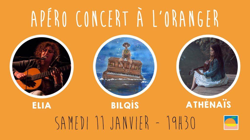 Apéro concert avec Athenais, Elia et Bilqis