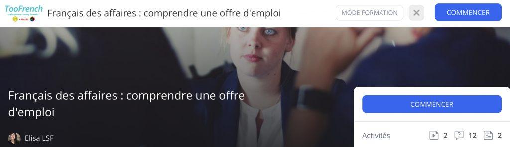 français des affaires
